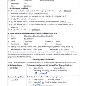 Aktuelles EfB-Zertifikat!